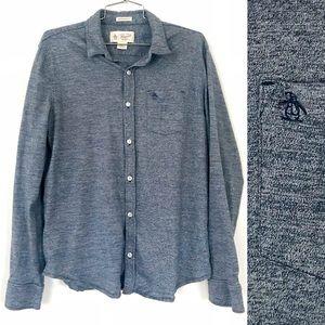 Penguin heritage slim fit blue button down shirt